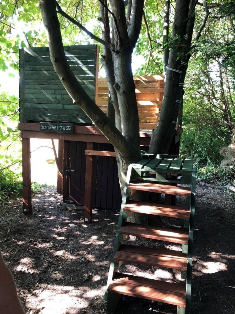 Year 6 Treehouse built by the students